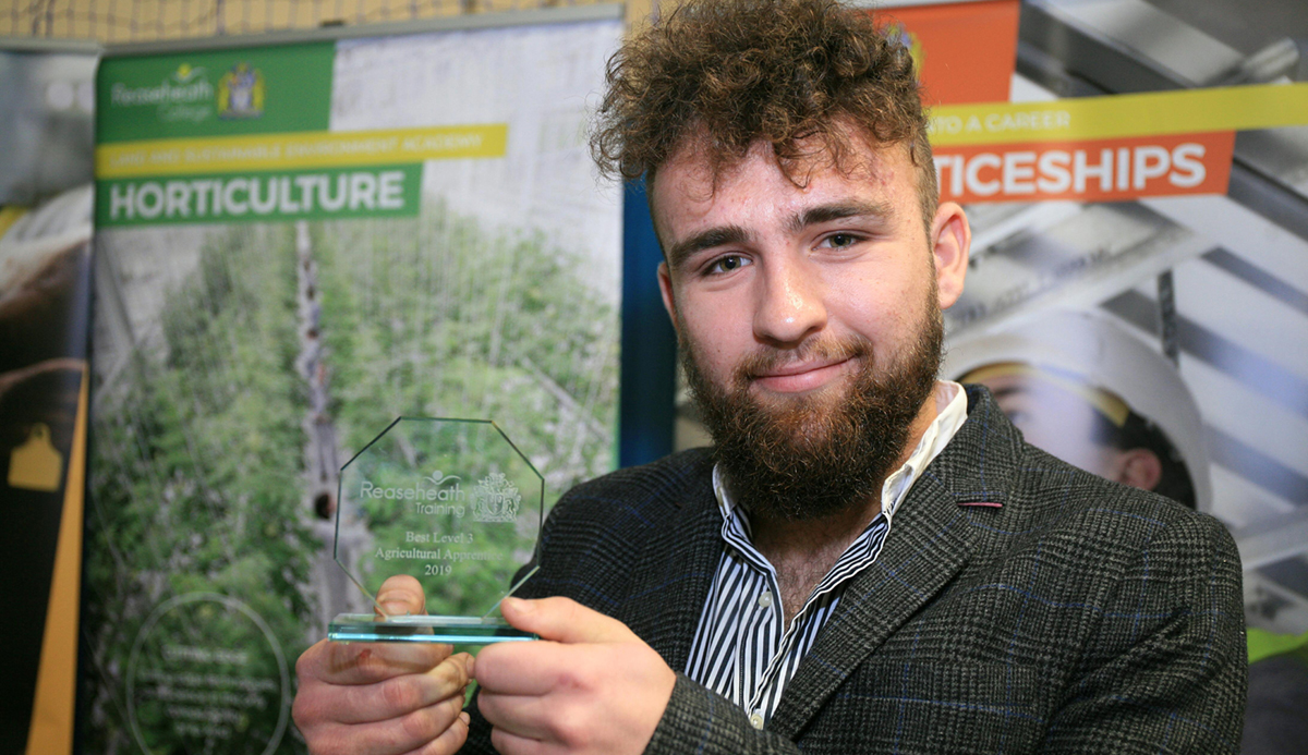 Best Level 3 Agricultural Apprentice, James Colclough