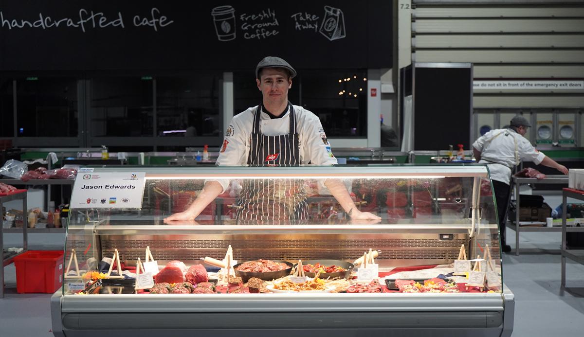 Bronze medal in butchery, for Jason Edwards at WorldSkills UK