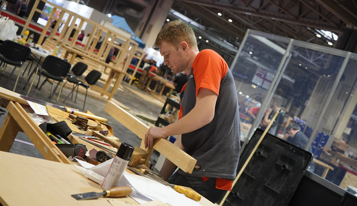 Harry Hiscoe-James, joinery competition WorldSkills UK