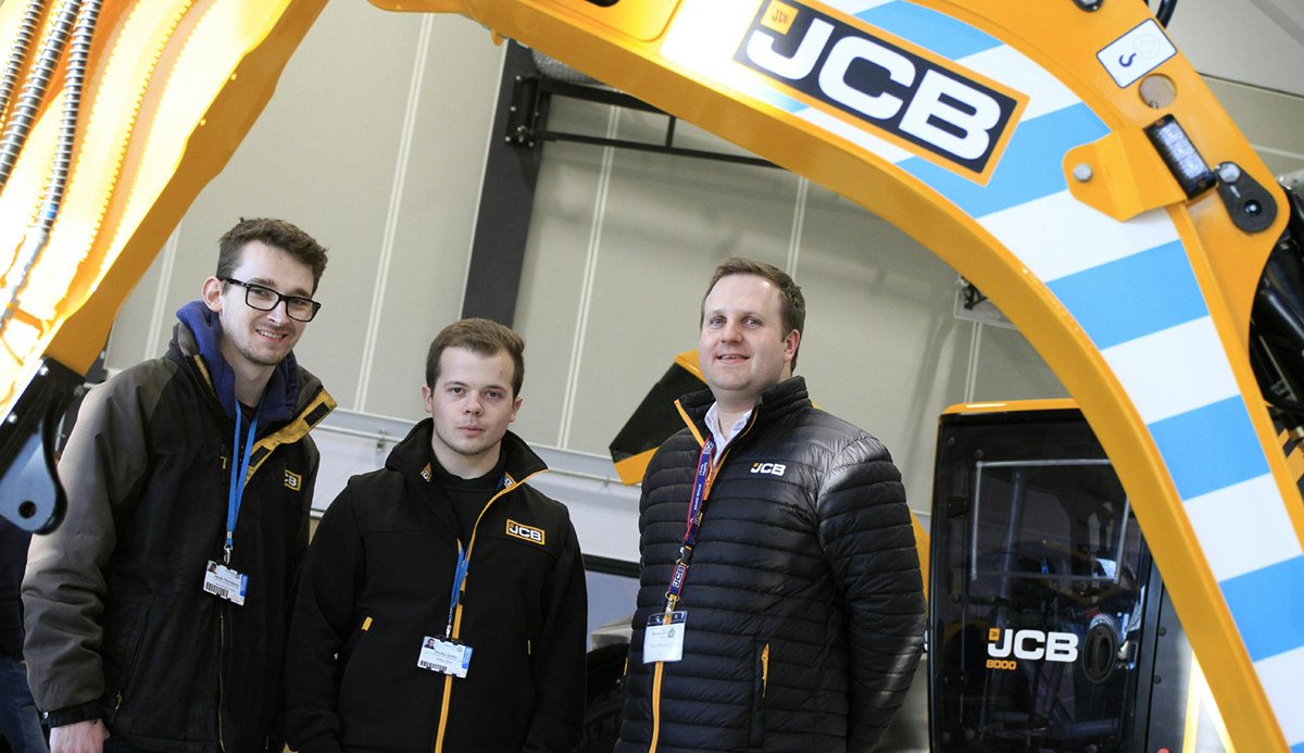 JCB apprentice service engineers Jacob Thompson and Phil Gibbs TomMowforth Fastrac Product Specialist