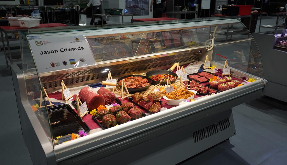 Jason Edwards, butchery at WorldSkills UK