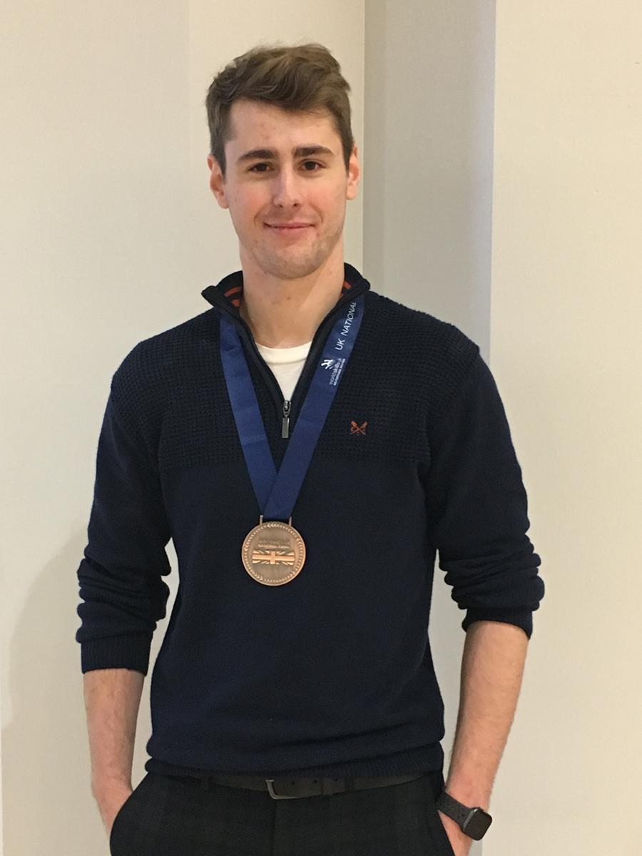 Jason Edwards with bronze medal