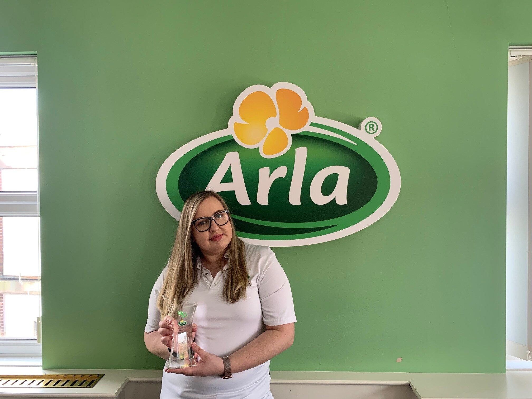 Dairy Technologist Apprentice Jowita wins Arla companywide Cream of the Crop award